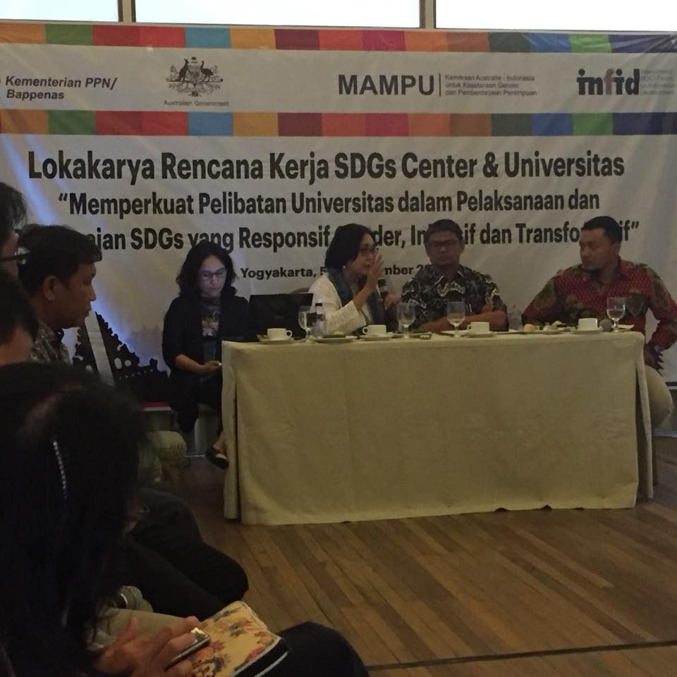 Lokakarya Rencana Kerja SDGs Center & Universitas 7