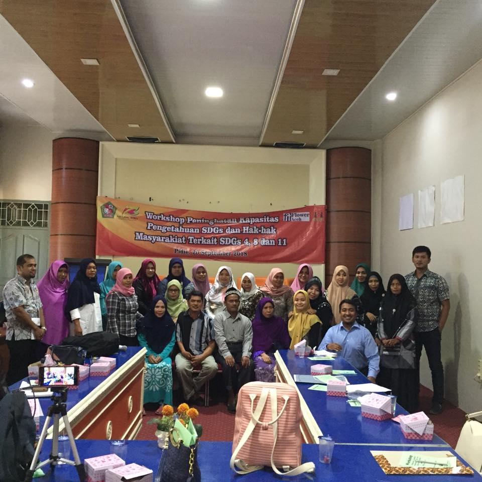 Workshop penguatan kapasitas tentang SDGs Pidie-5